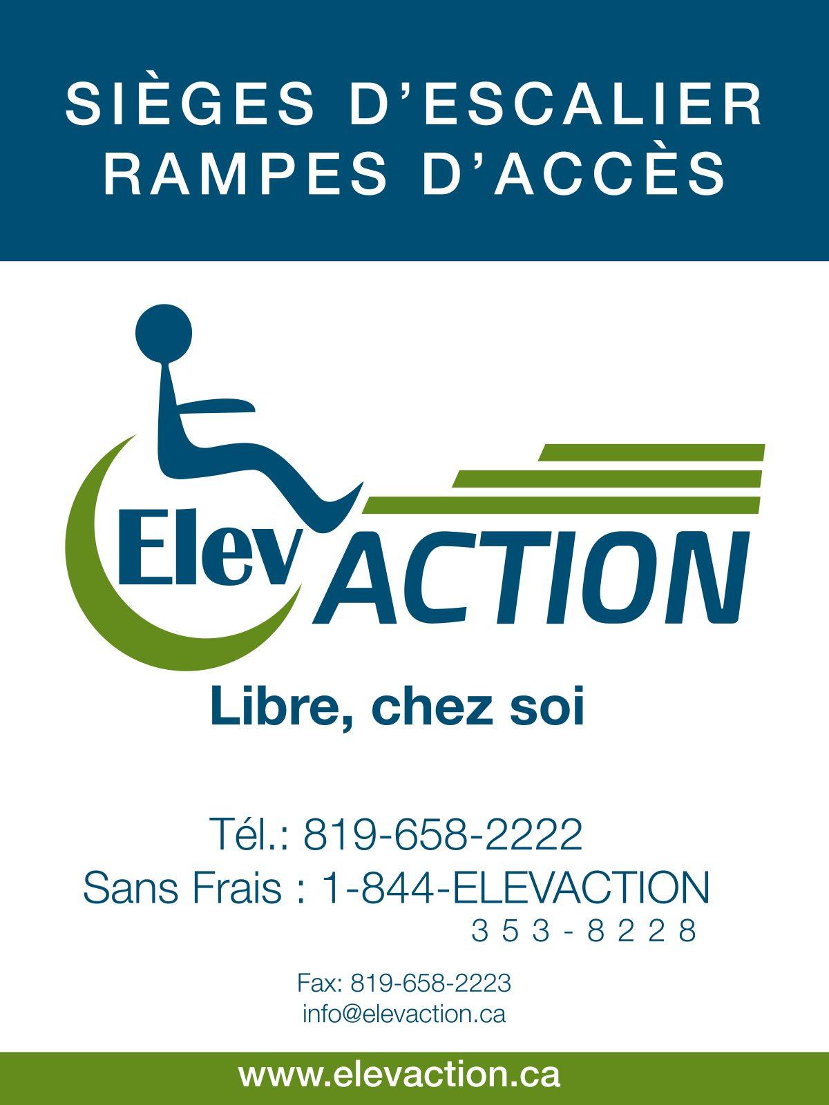 Élévaction, libre chez soi : sièges d'escalier, ascenseurs, lève-personnes, plateformes élévatrices